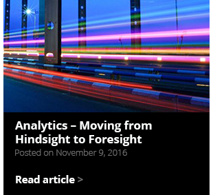 Analytics – Moving from Hindsight to Foresight