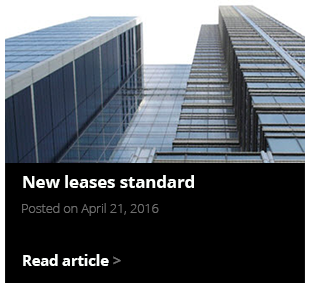 New leases standard