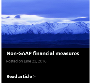 Non-GAAP financial measures