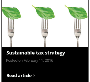 Sustainable tax strategy