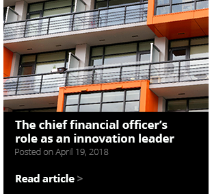 The chief financial officer's role as an innovation leader