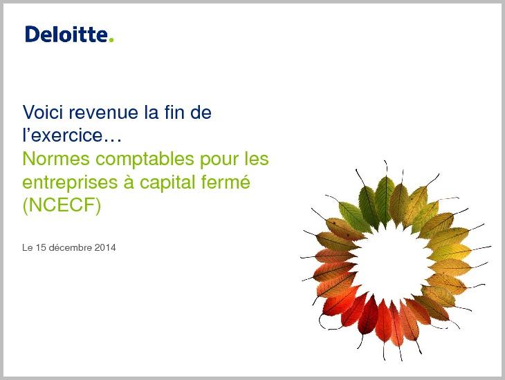 Deloitte Update Webcast - ASPE Annual Update - Presentation