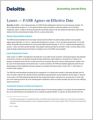 FASB Approves Optional Lease Implementation Transition Method