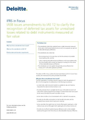 ias 12 Project history in march 2010, the interpretations committee was asked to  provide guidance on how an entity determines, in accordance with ias 12,  whether to.
