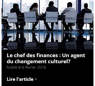 Le chef des finances : Un agent du changement culturel ?