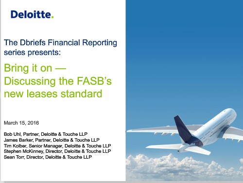 dbrief webcast March 15